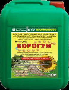 Специальное борогоорганогуминовое удобрение